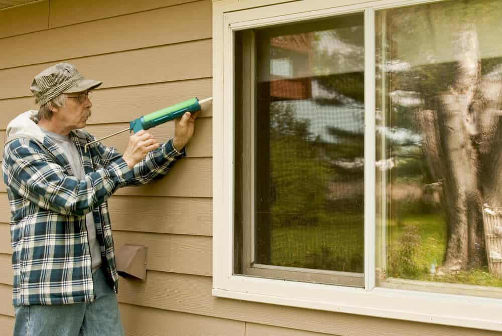 Caulk your windows to prevent air leaks